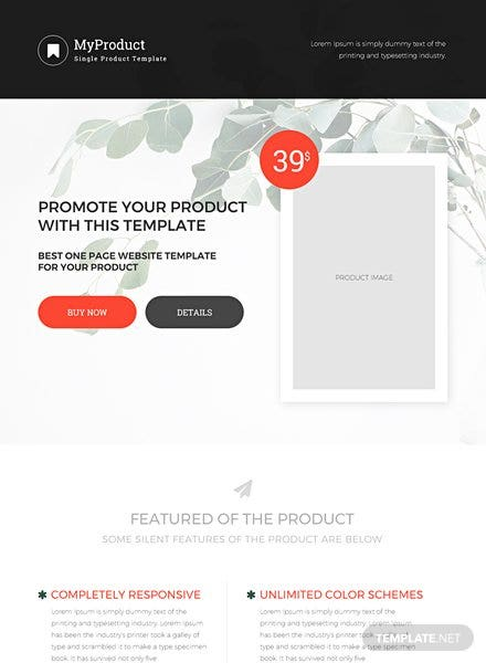 Single Product Ecommerce Website Template