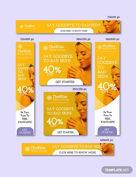 Beauty  Spa Google Ad Banner Template