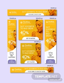 Beauty & Spa Google Ad Banner Template