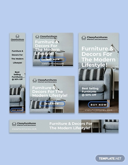 Furniture Sale Google Ad Banner Template