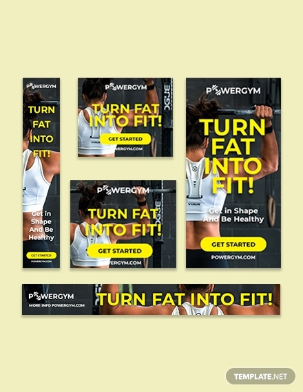 Gym Google Ad Banner Template