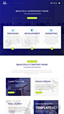 Blu Agency PSD Website Template