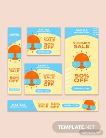 Summer Sale Google AD Banner Template