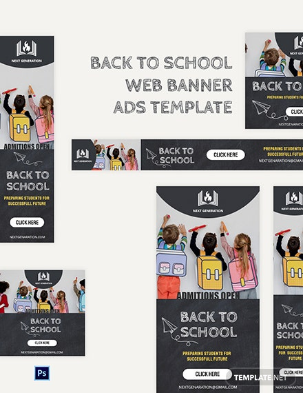 Back To School Web Banner Ads Template