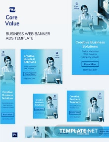 Business Web Banner Ads Template