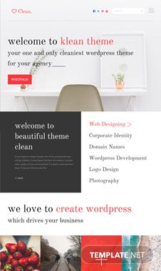 Free Clean PSD Website Template