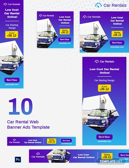 Car Rental Web Banner Ad Template