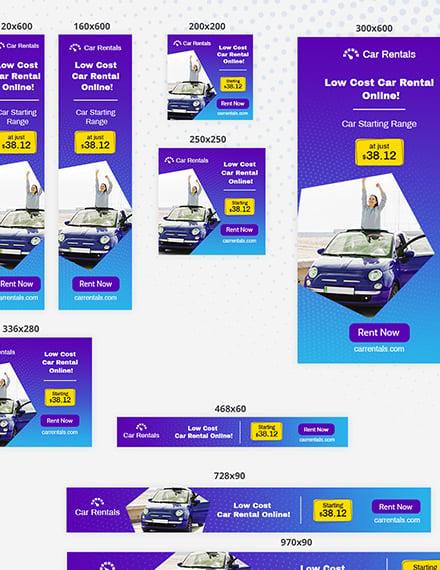 Car Rental Web Banner Ad Template Psd Template Net