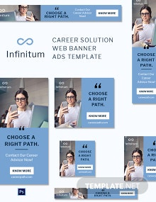 Career Solution Web Banner Ads Template