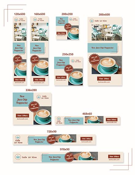 Coffee Shop Web Banner Ads Download