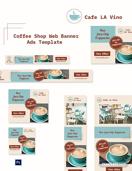 Coffee Shop Web Banner Ads Template