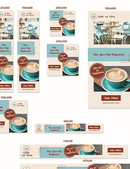 Sample Coffee Shop Web Banner Ads