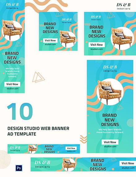 Design Studio Web Banner Ad Template