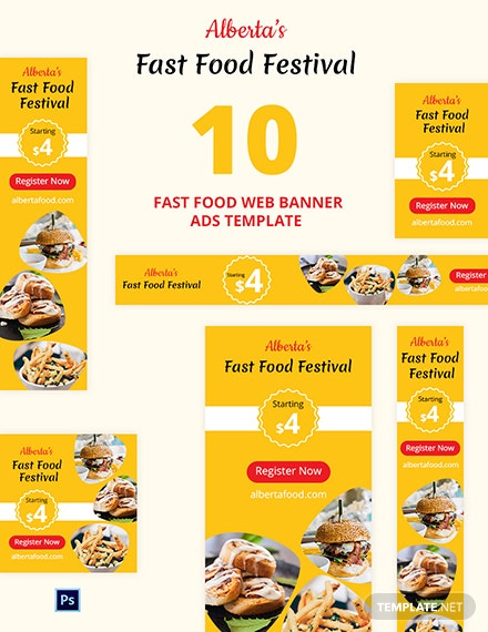 Fast Food Web Banner Ads Template