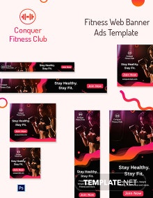 Fitness Web Banner Ads Template