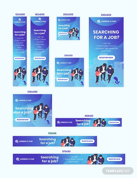 Job Searching Web Banner Ads Download