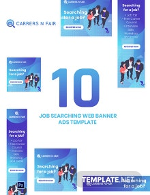 Job Searching Web Banner Ads Template