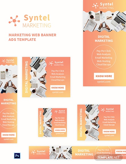 Marketing Web Banner Ads Template