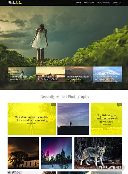 Free Clickaholic Website Template