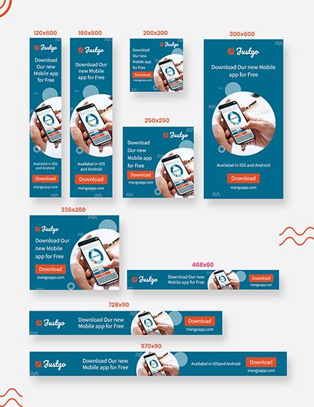 Mobile App Web Banner Ads Download