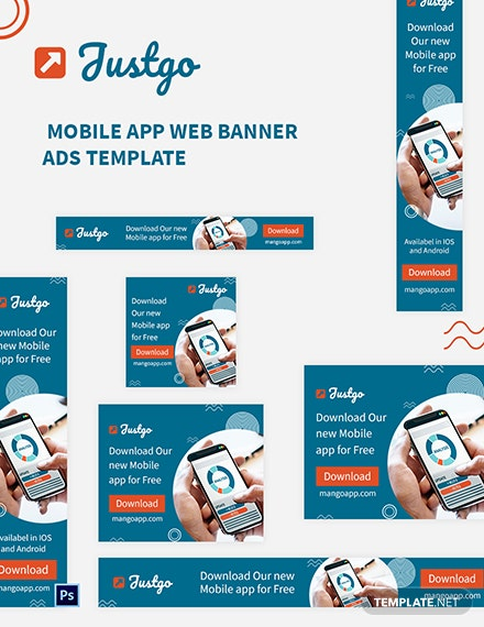 Mobile App Web Banner Ads Template