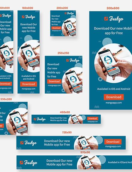Sample Mobile App Web Banner Ads