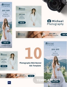 Photography Web Banner Ads Template