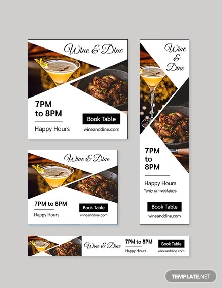 Restaurant & Bar Google Ad Banner Template