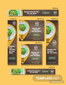 Restaurant Web Banner Ads Template