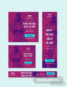 Retail Sale Google Ad Banner Template