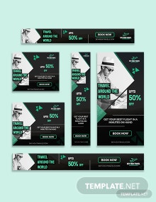 Travel Banner Ads Template
