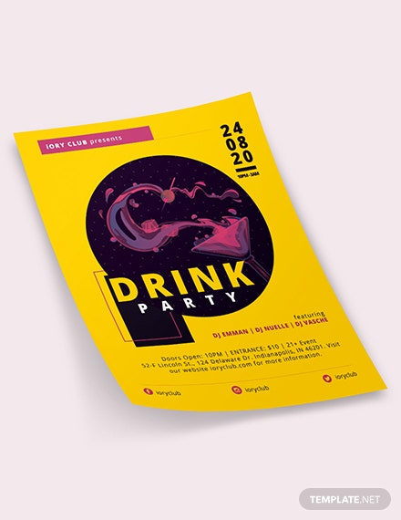 Drink Party Flyer Download
