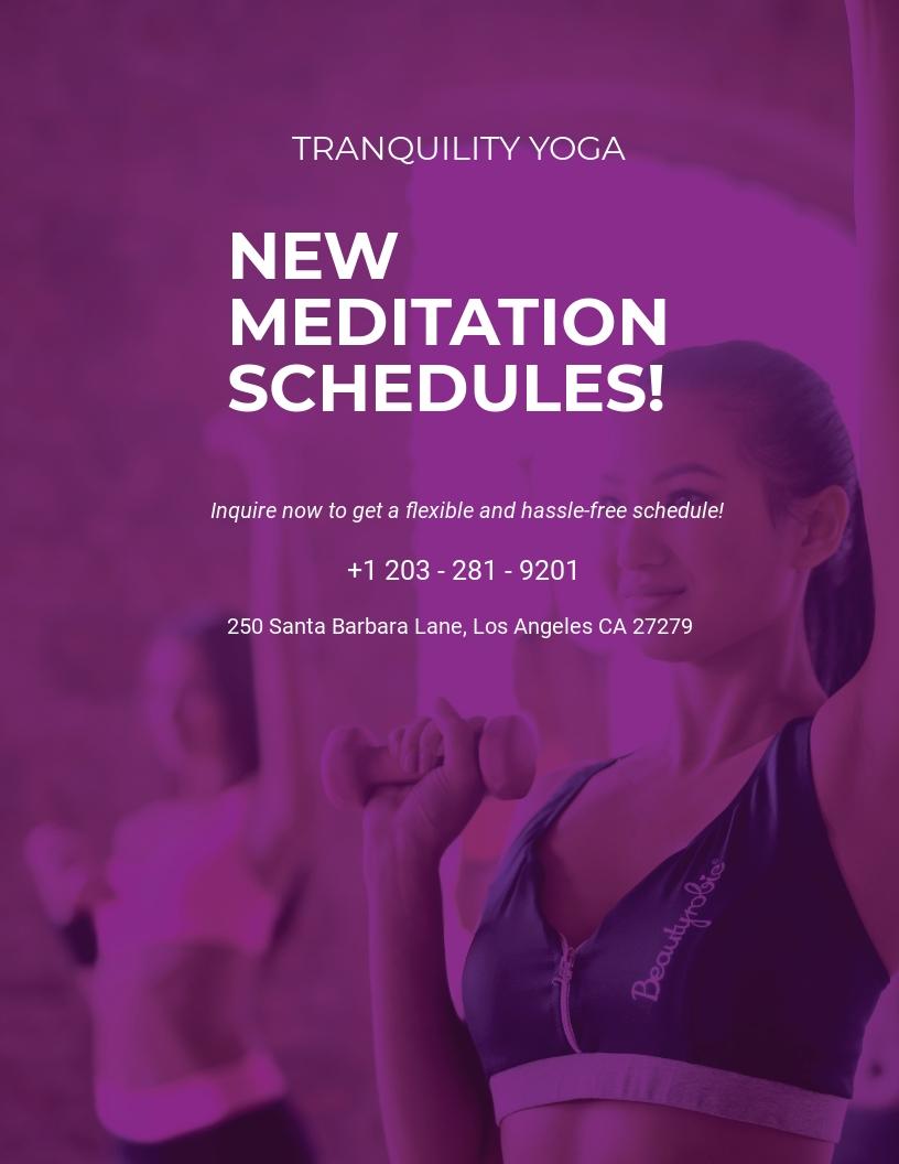 Meditation Class Flyer Template