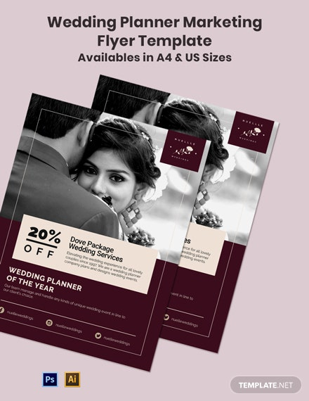 Wedding Planner Marketing Flyer Template