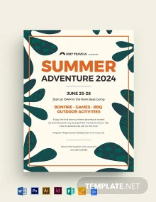 Summer Adventure Flyer Template
