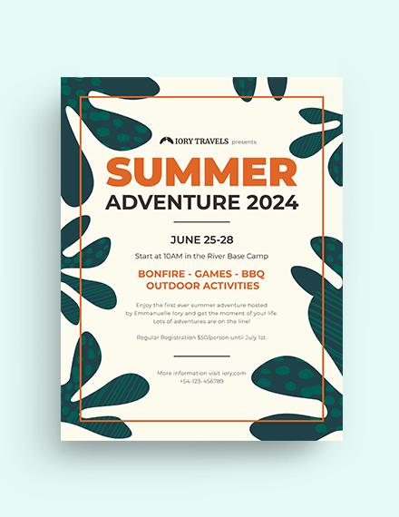 Summer Adventure Flyer Template