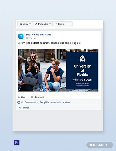 Education Facebook Ad Banner Template