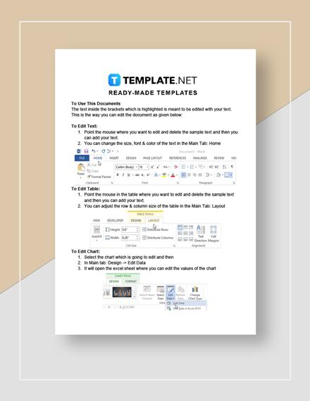 education invoice Instructions