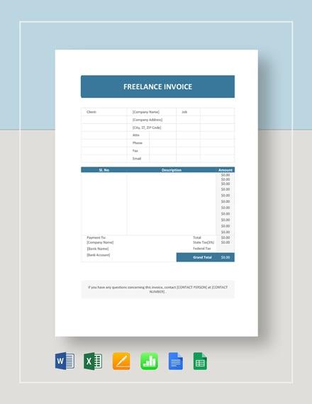 freelance invoice 2