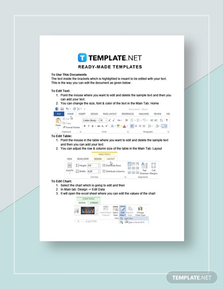 invoice format instructions