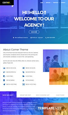 Free Corner Theme Website Template