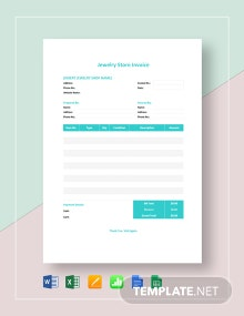 Jewelry Store Invoice Template