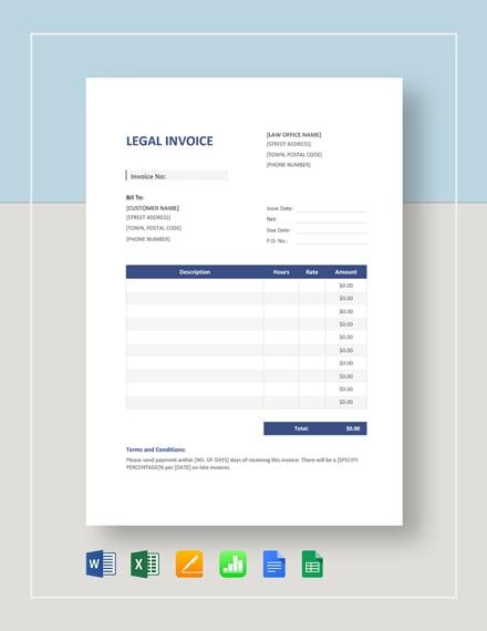 legal invoice