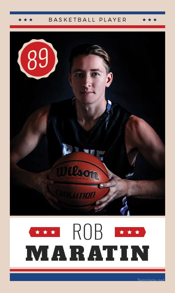 Best Editable  Basketball Trading Card
