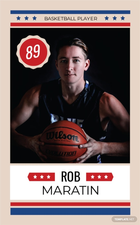 Basketball Trading Card Template
