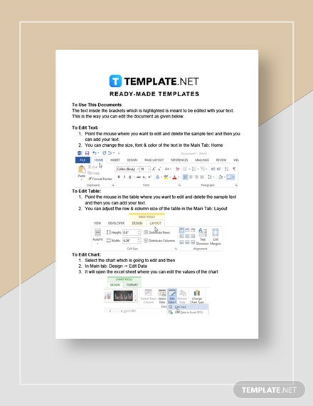 rental invoice Instructions