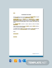 Letter of Reference Short Template