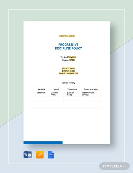 Progressive Discipline Policy Template