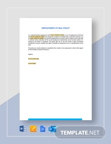 Employment At Will Policy Template