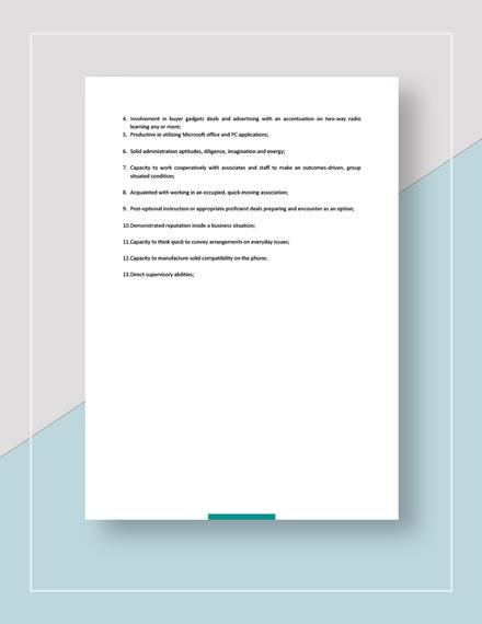 Sample Sales Manager Job Description